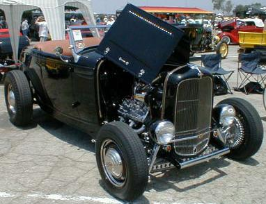 Flathead-powered '32 at the L.A. Roadsters show